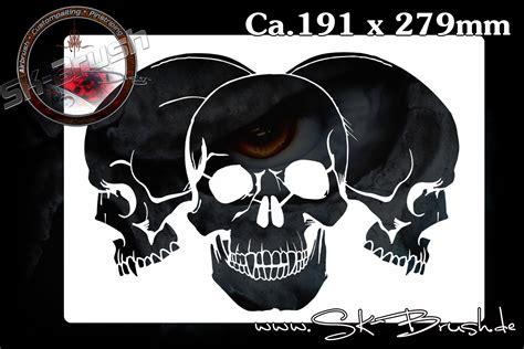 airbrush schablone fuer schaedel totenkoepfe skulls sk