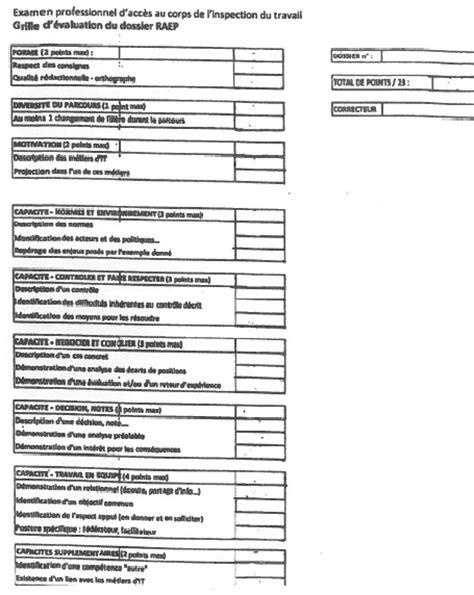 Grille Evaluation Cv by Grille D 233 Valuation Du Dossier Raep