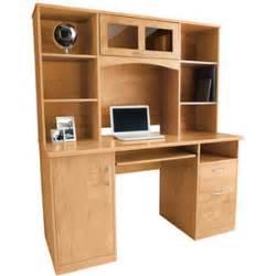 Landon Desk With Hutch Oak landon desk with hutch oak polyvore