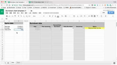 burndown chart template doc burndown chart template v1 level up