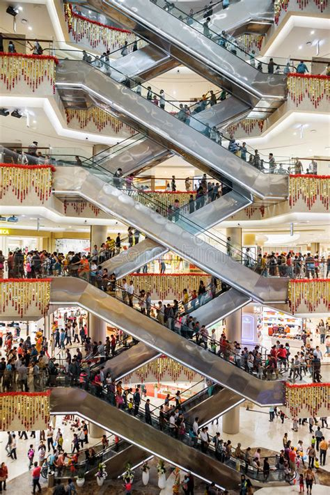 escalators busy mall editorial image image  business