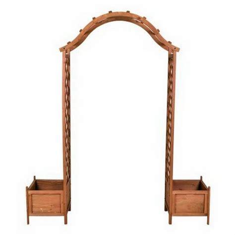 arco da giardino arco per ricanti grigliato e fioriere in legno da
