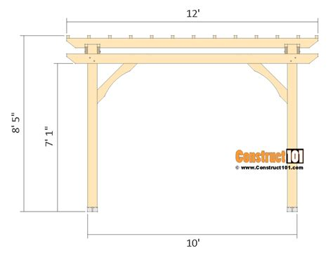 10x10 pergola plans free pdf construct101