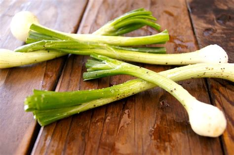 grilled garden scallions weekend recipes