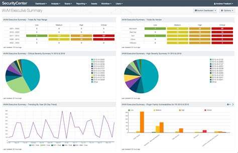 Iavm Executive Summary Dashboard Screenshot Compliance Dashboard Template
