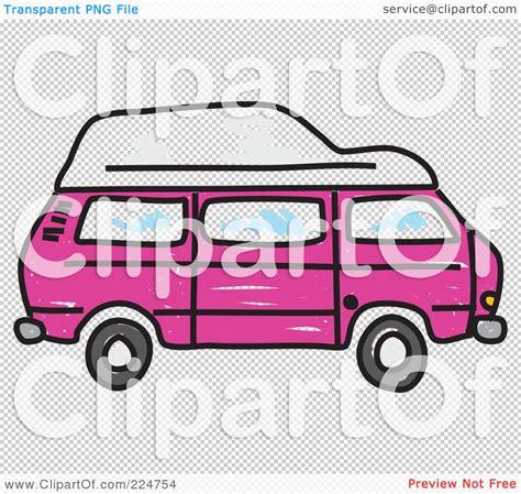 volkswagen cer pink cervan illustrations