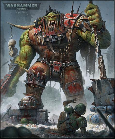 warhammer 40k sales warhammer 40k artwork ork warboss by tishenin