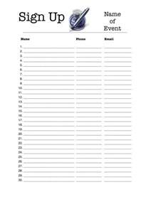 Free Sign Up Sheet Template by 4 Excel Sign Up Sheet Templates Excel Xlts