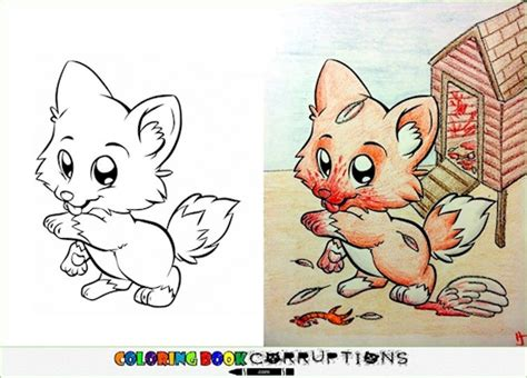 disturbing coloring book corruptions 19 coloring characters who been seriously corrupted