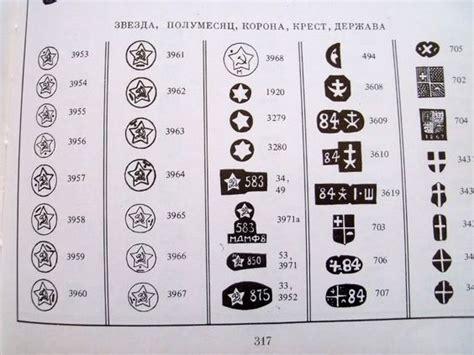 list of hallmark russian gold silver jewelry makers trade marks hallmark