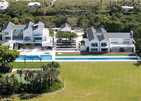 tiger woods 60m florida mansion with running track and