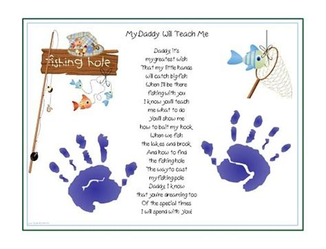Kertas Samson Craft Coklat Uk F4 teach me fishing poem child handprint fathers day