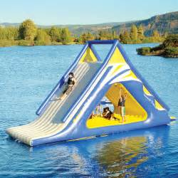 Ultimate Inflatable Backyard Water Park Aquaglide Summit Express 16 Gigantic Inflatable Water