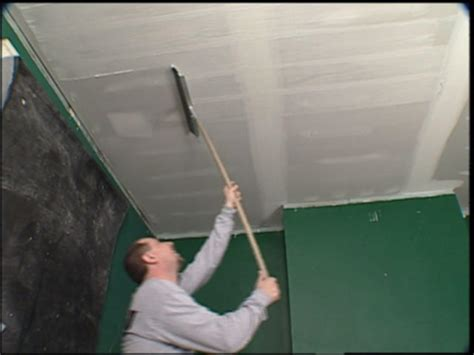 Skim Coat Ceiling With Roller by How To Replace Ceiling Tiles With Drywall How Tos Diy