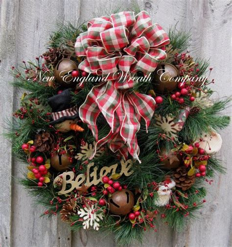 christmas wreath holiday wreath country christmas