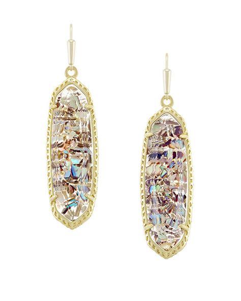 Layla Earrings layla gold drop earrings in abalone shell kendra
