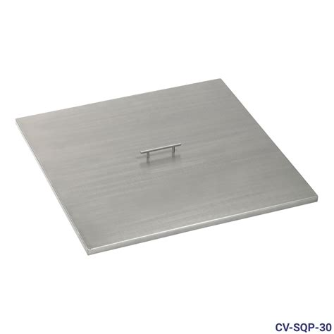 stainless steel cover stainless steel cover for square drop in fire pit pan