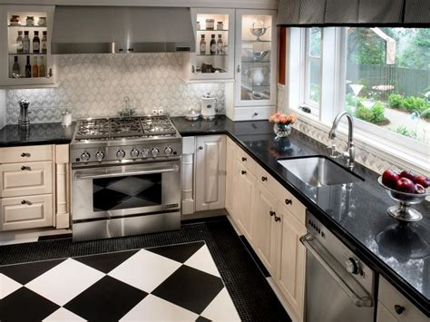 small black and white kitchen ideas small kitchen design smart layouts storage photos hgtv