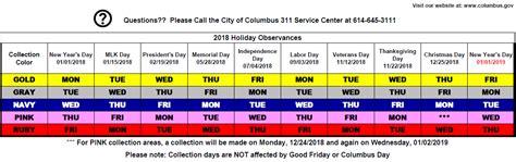 colors schedule rotating color calendar