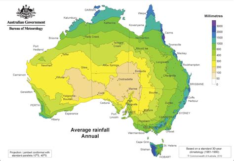 rainfall map of climate graph and location map of the desert