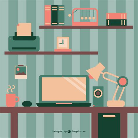 wallpaper freepik retro wallpaper office space flat design vector free