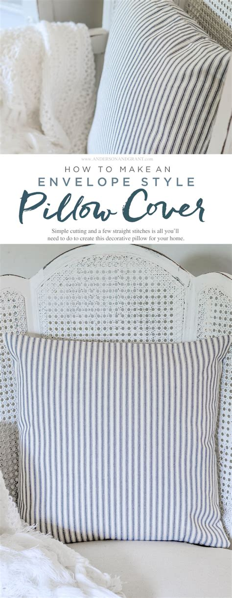 how to make an envelope pillow easy diy envelope pillow cover tutorial grant