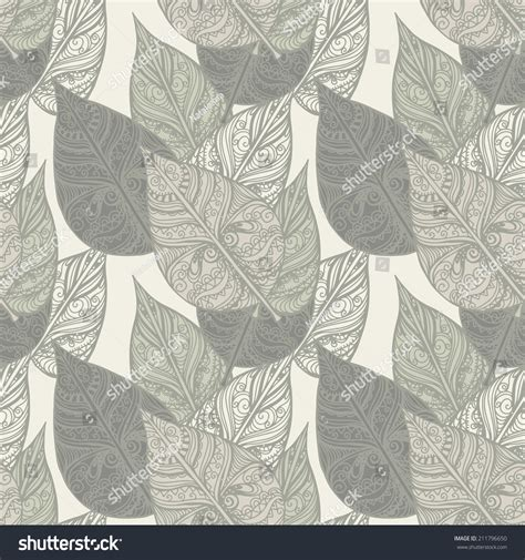 a seamless repeating retro floral seamless pattern leafs abstract floral repeating stock