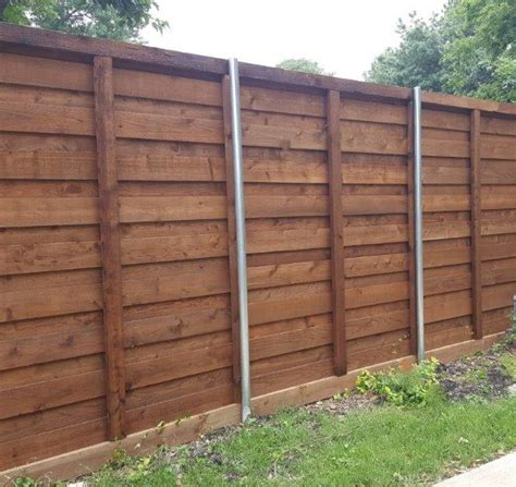 horizontal wood fence should you choose pre stained pickets for your board on