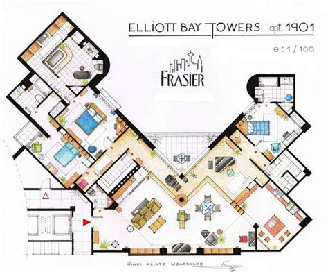 mad men floor plan 15 floor plans of tv s best homes mad men