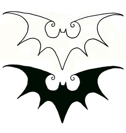flying bat tattoo designs black flying bats in batman logo stencil by abby