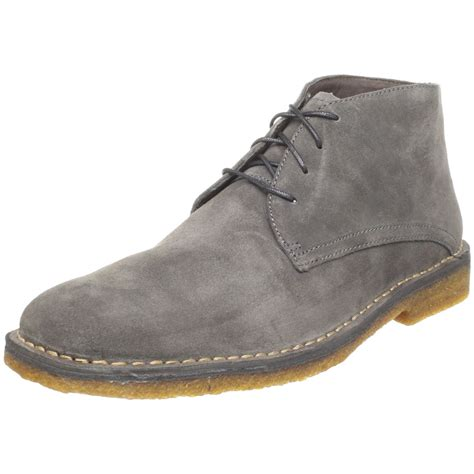mens grey chukka boots johnston murphy mens runnell chukka boot in gray for