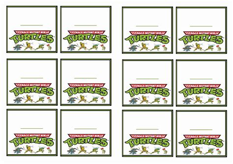 ninja turtles printable name tags teenage mutant ninja turtles name tags birthday printable