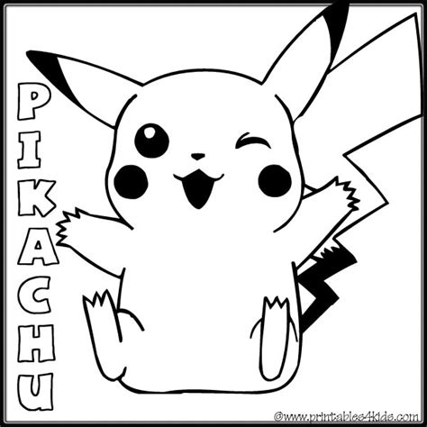 pikachu coloring page free cute pokemon coloring pages to print of pikachu pictures