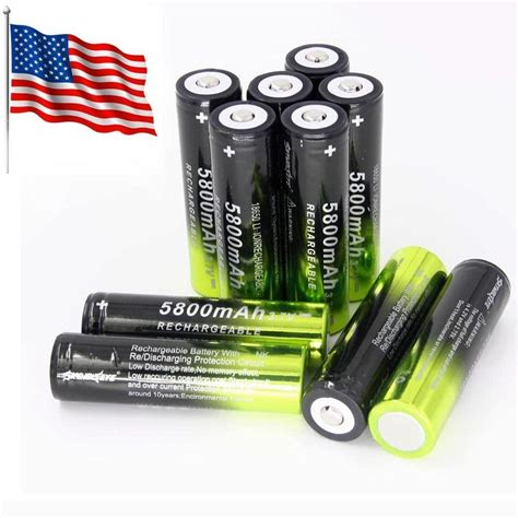 Hv9090 Rechargeable Battery For Led Flashlight 37v 6 Kode Bis9144 2pc 5800mah 18650 3 7v rechargeable lithium ion battery 3 95