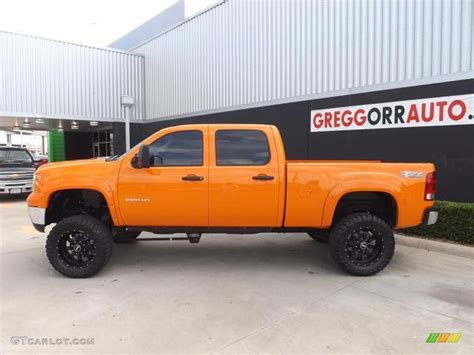 2011 fleet tangier orange gmc 2500hd work truck crew cab 4x4 83378295 photo 6