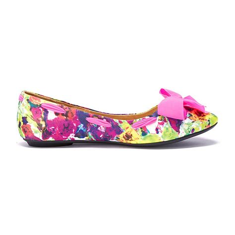 colorful flat shoes vancl colorful mottled flat shoes coral sku 169590