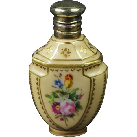 Miniature Bottle antique miniature painted porcelain scent bottle perfume bottle from trinityantiques on