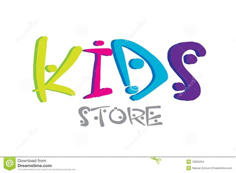 kids designs kids logo design stock illustration image of childhood
