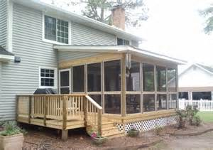 Pictures Of Screened In Decks Screened In Deck Makes House Spacious Safer Carehomedecor