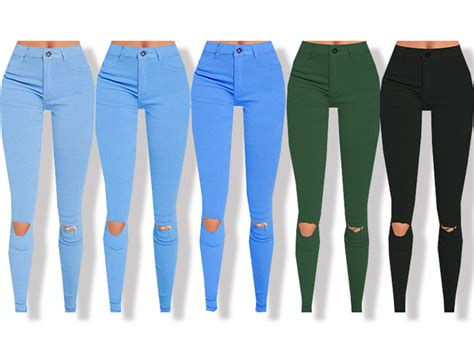 sims 4 high waisted jeans high waisted skinny jeans by pinkzombiecupcakes at tsr