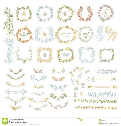 design elements symmetry big set of floral graphic design elements stock vector