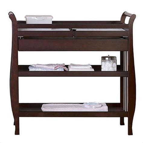 Pine Changing Table Davinci Emily Pine Wood W Drawer Espresso Changing Table Ebay