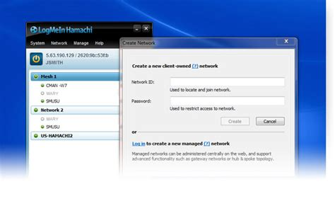hamachi mobile free vpn software networking with logmein hamachi