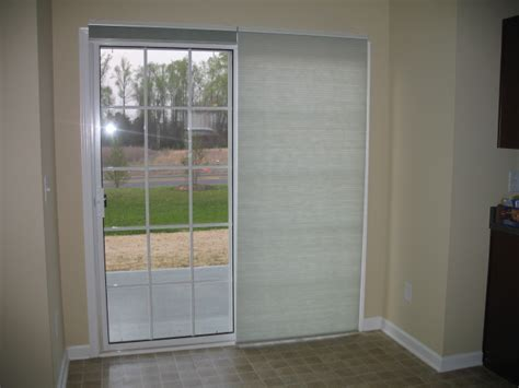 Sliding Doors With Cell Shades Sliding Glass Doors Shades