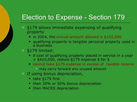 section 179 election depreciation study gudide