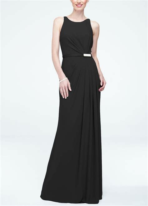 david s bridal sleevless crepe dress with embellished