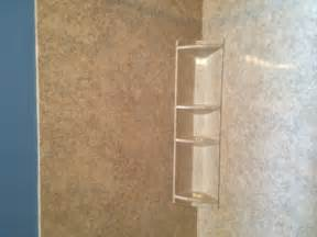 acrylic corner shelf in macungie modern bathroom