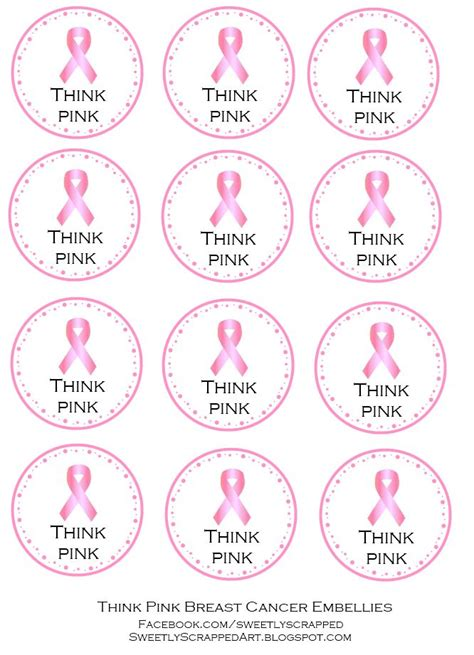 printable ribbon tags cancer awareness decorations printables these would make