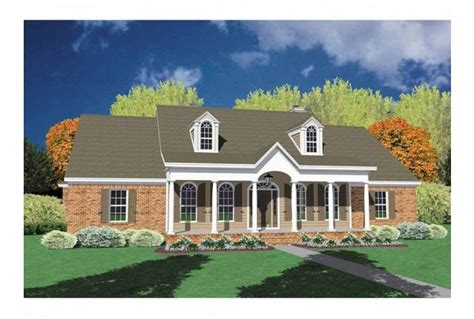 Pictures Of One Story Houses one story brick house plans eplans neoclassical house plan alluring