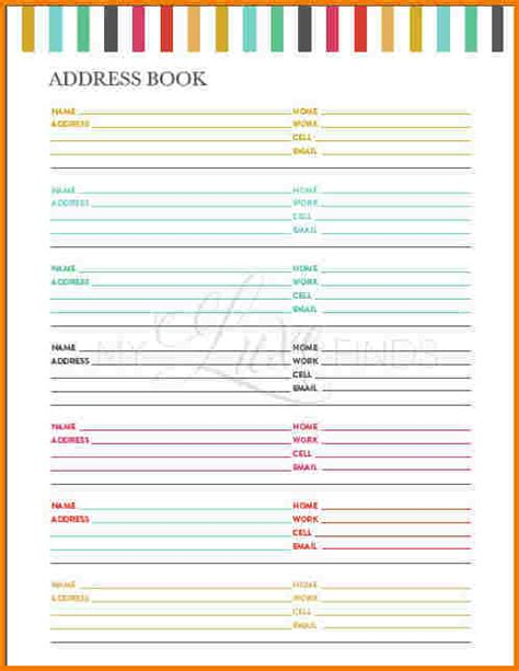 electronic address book template delighted address book template free ideas resume ideas